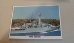 1974 HMS Arrow frigate  warship framed picture